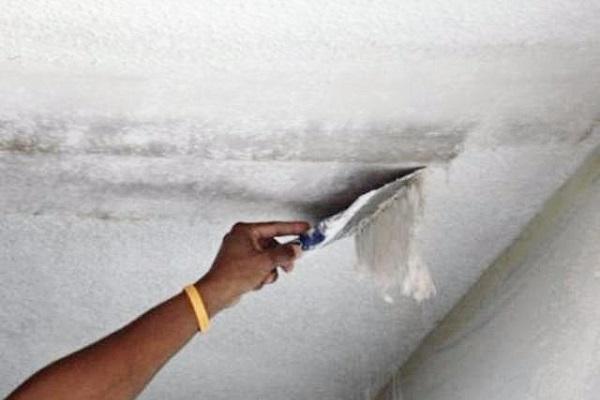 почему плесень на потолке